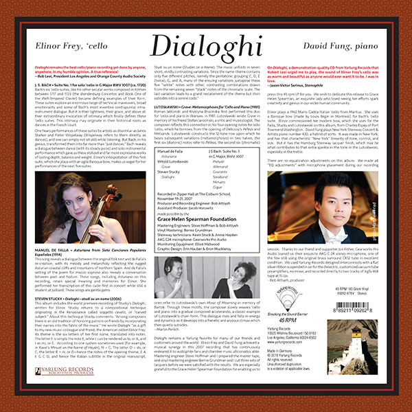 Elinor Frey | David Fung | Dialoghi