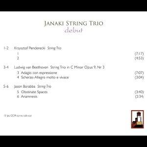 Janake String Trio   Debut   Sonorus
