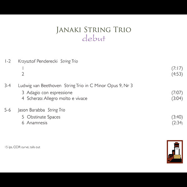 Janake String Trio | Debut | Sonorus