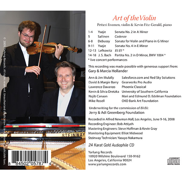 Petteri Iivonen Art of the Violin CD