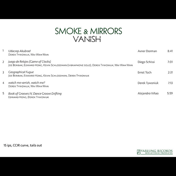 Smoke & Mirrors Percussion Ensemble | Vanish | SonoruS