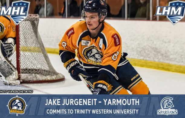 JURGENEIT COMMITS TO TRINITY WESTERN UNIVERSITY | Yarmouth Mariners