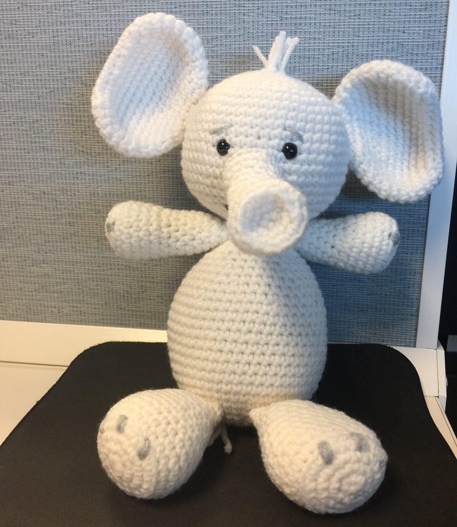 Amazon.com: Elephant Stuffed Animal Unique Handmade Crochet 100 ... | 1762x1526
