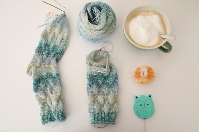 Socken stricken, Herzsocken, Tanja Steinbach, stricken