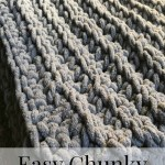Chunky Crochet Baby Blanket with Pattern!