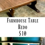 Turn An Old Kitchen Table into a Chic Farmhouse Table
