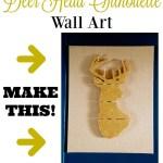 DIY Glitter Deer Head Silhouette on a Burlap Canvas