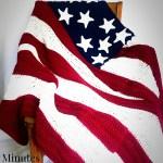 America Flag Crochet Blanket with FREE Pattern!