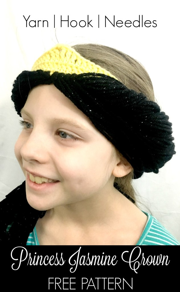 jasmine with crown the princess jasmine crochet crown with free pattern yhn