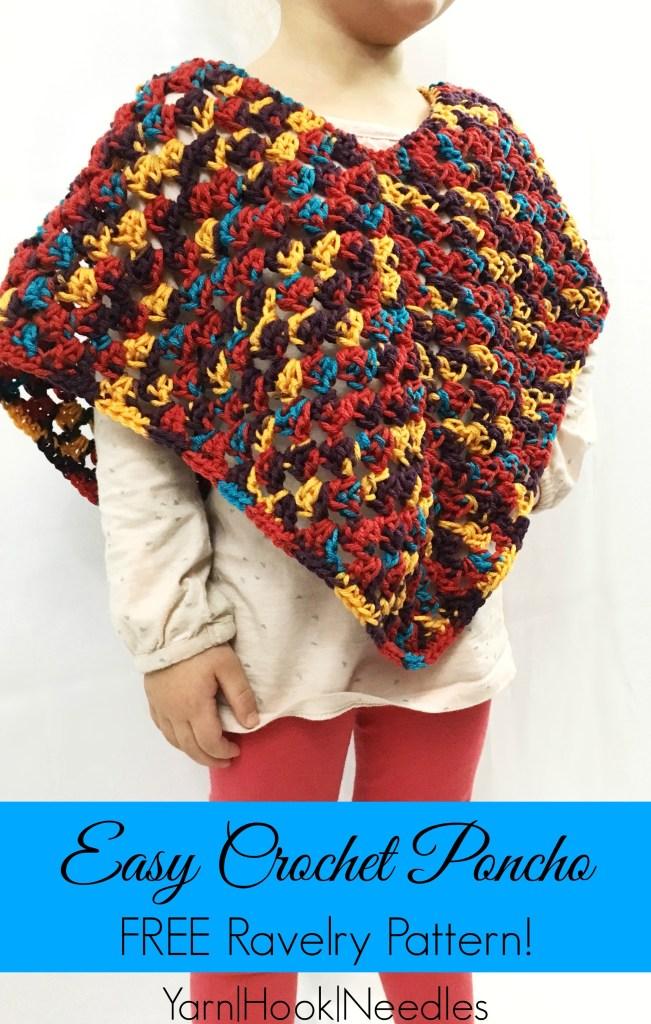 Easy Crochet Poncho With FREE Ravelry Pattern YarnHookNeedles Impressive Crochet Poncho Pattern Ravelry