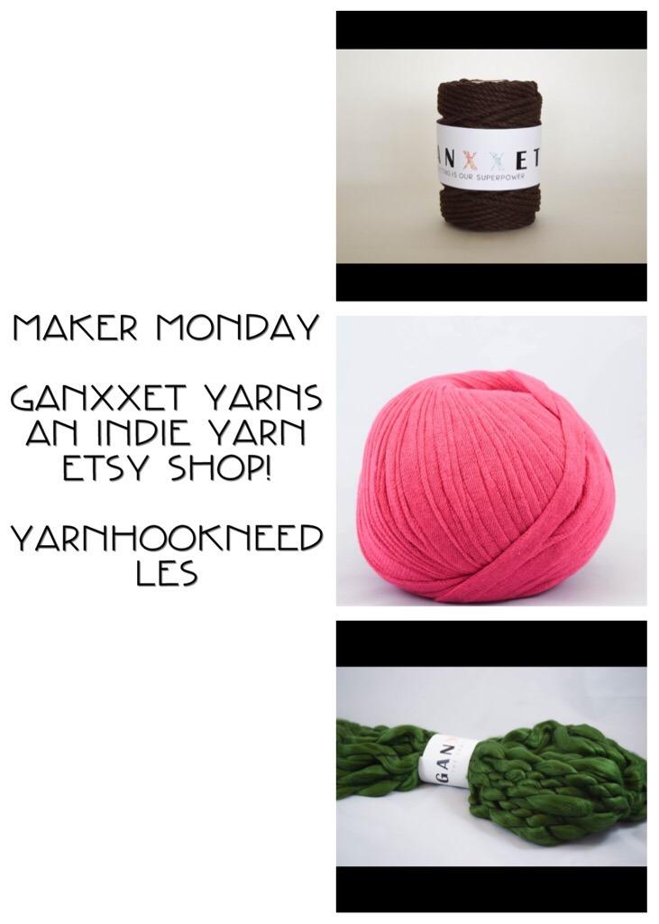 Maker Monday Ganxxet Yarns From Etsy Yarnhookneedles