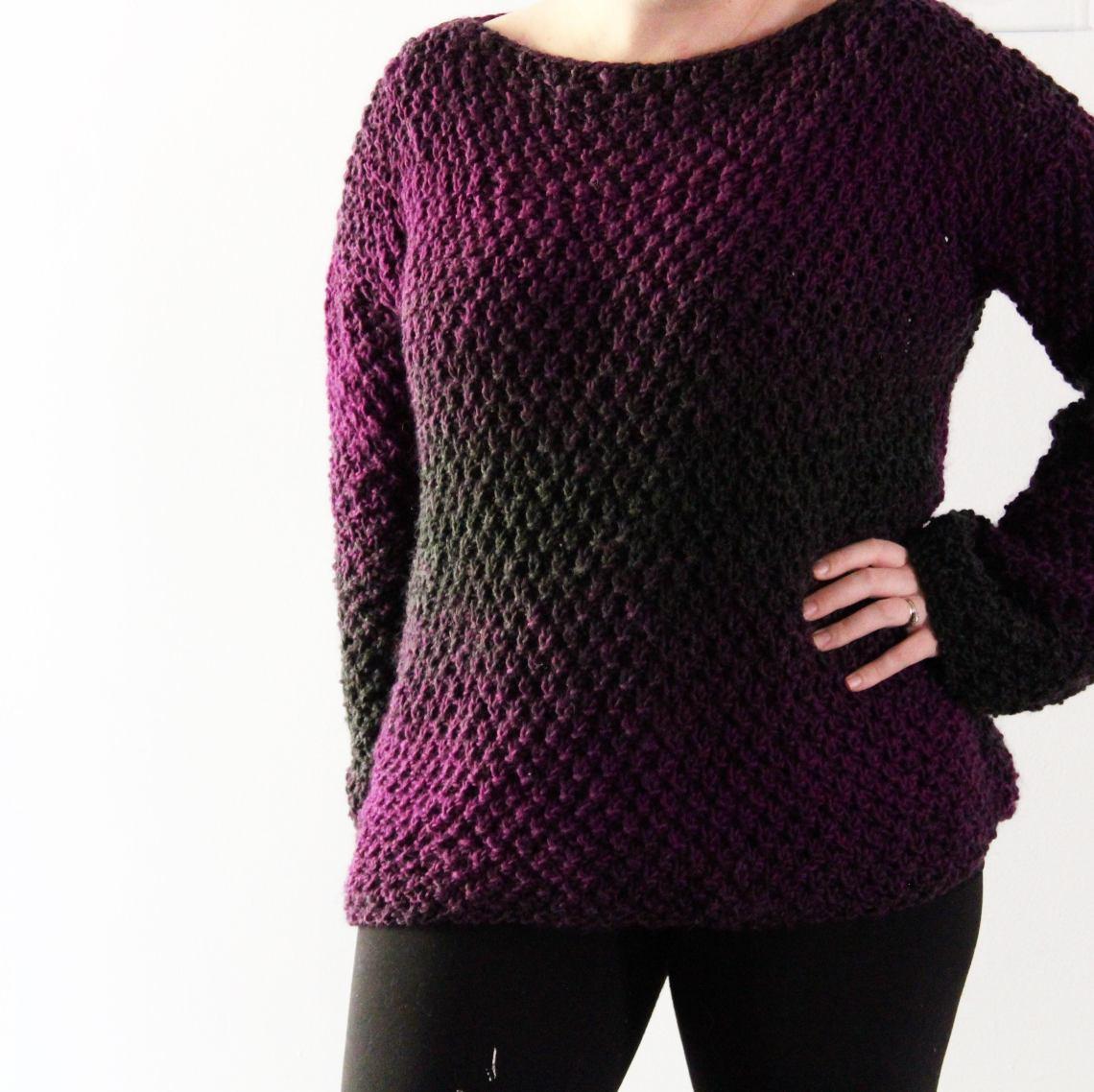 86d88e473 The Amethyst Knit Sweater - FREE Knitting Pattern by YarnHookNeedles ...