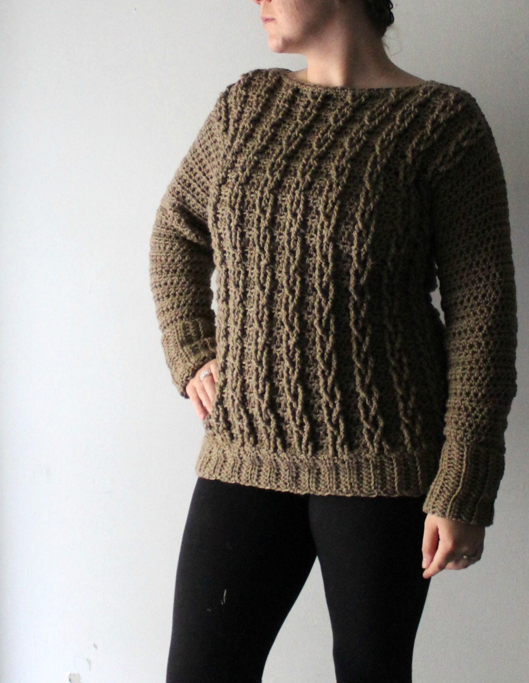 295f42bba5f0 Your First Crochet Cable Sweater Project! - YarnHookNeedles