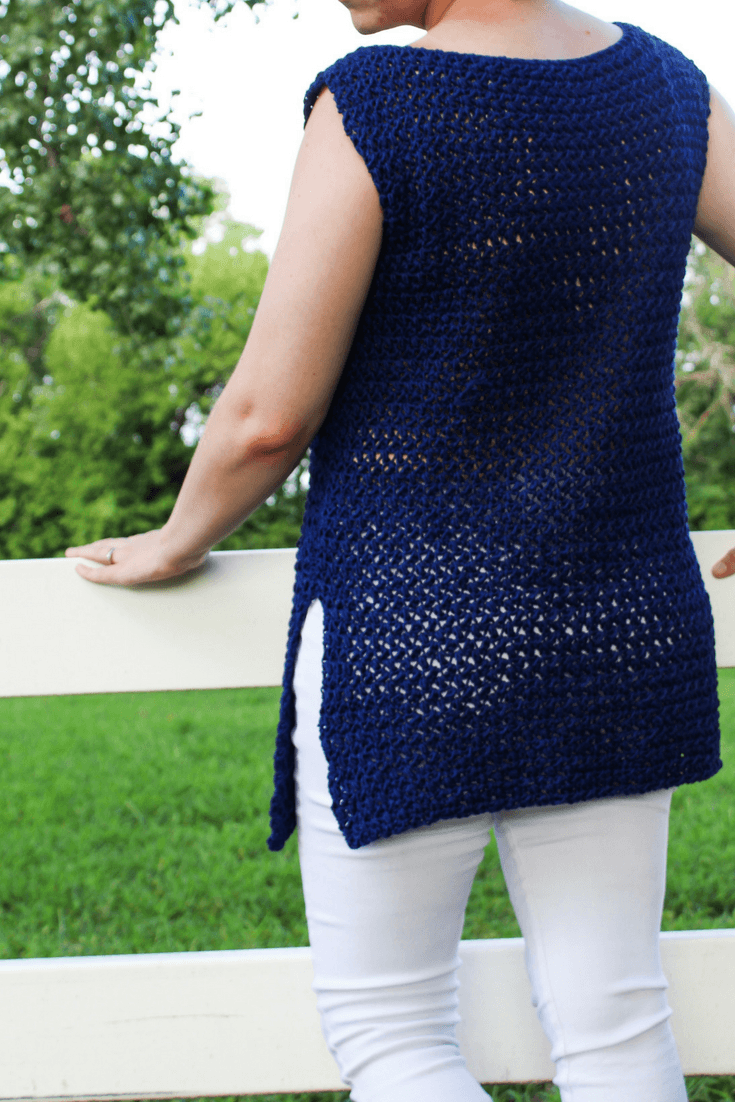The Easiest Crochet Tunic You Will Ever Make By