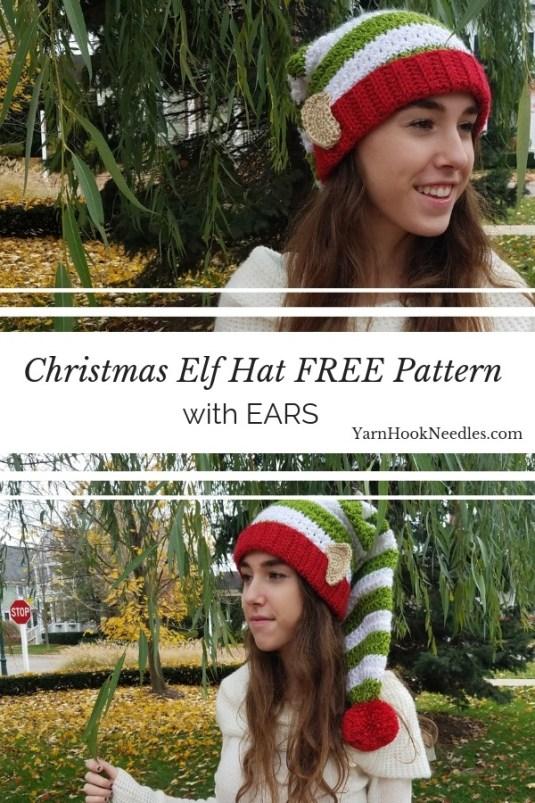 8d46cb86134 Star Stitch Crochet Elf Hat FREE Pattern
