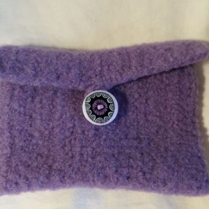 Lilac Felted Wallet (envelope)