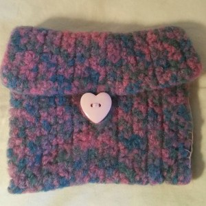 Pink & Blue Felted Wallet (envelope)