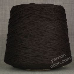 soft quality 4 ply dk double knitting wool blend knitting yarn on cone dark brown chocolate