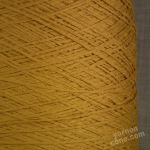 Italian soft tape chainette ribbon fettuccina yarn old gold 4 ply on cone