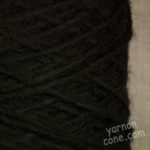 Black alpaca wool blend yarn aran dk double knitting yarn on cone