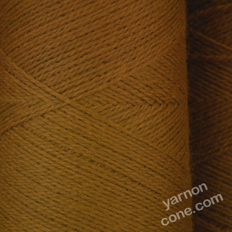 Jura weaving wool 4 ply yarn cone leather brown