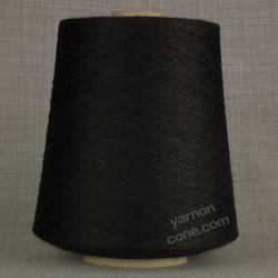 black 100% pure merino wool 2/30s laceweight cobweb fine machine knit yarn on cone