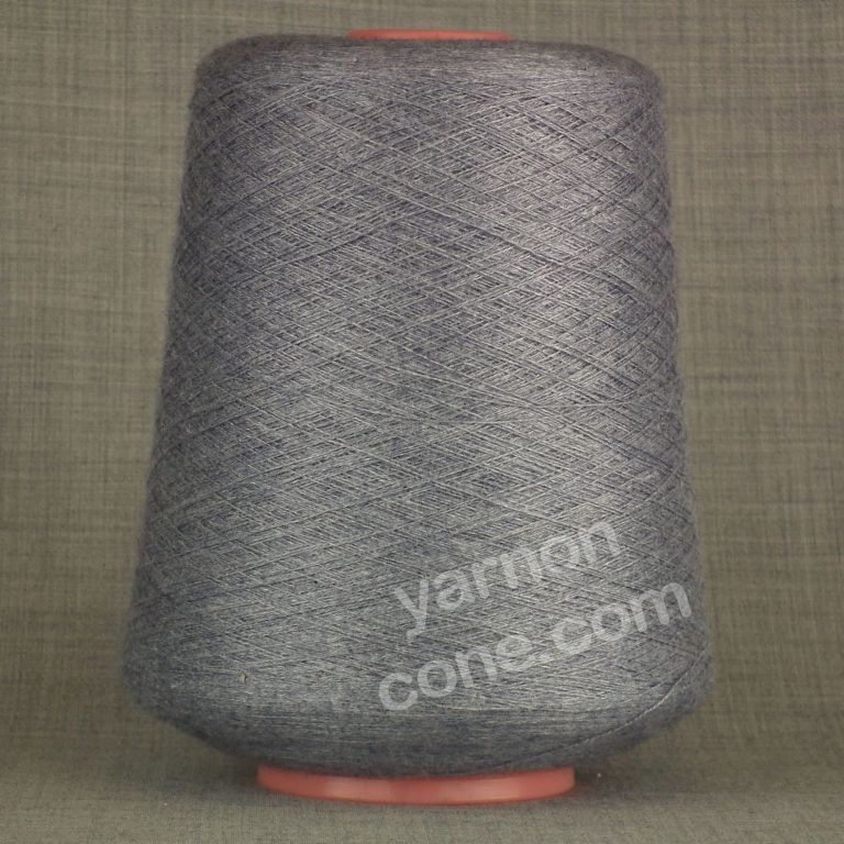 2/48NM cobweb 1 ply cashmere cotton viscose yarn on cone denim blue grey knit weave crochet hand machine