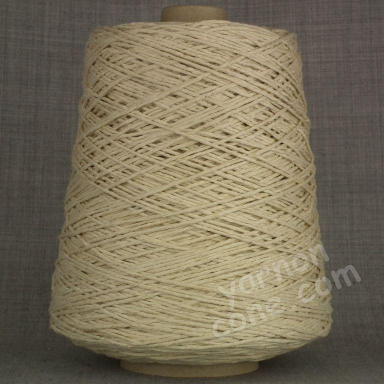 Double knitting DK soft pure cotton yarn on cone hand machine knitting weaving crochet oatmeal natural ecru