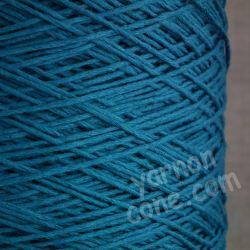 cashmere cotton soft yarn on cone 4 ply knitting weaving crochet luxury UK petrol blue