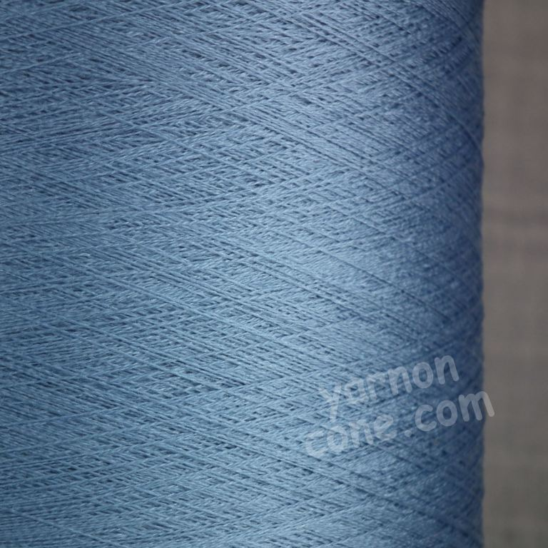 Pure silk cobweb yarn 2/120 NM italian 2/120NM on cone weaving knitting powder blue