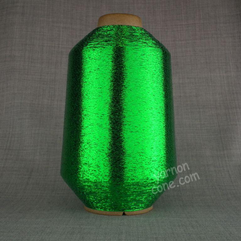 fine lurex metallic knitting machine coned yarn glitter sparkle shimmer green