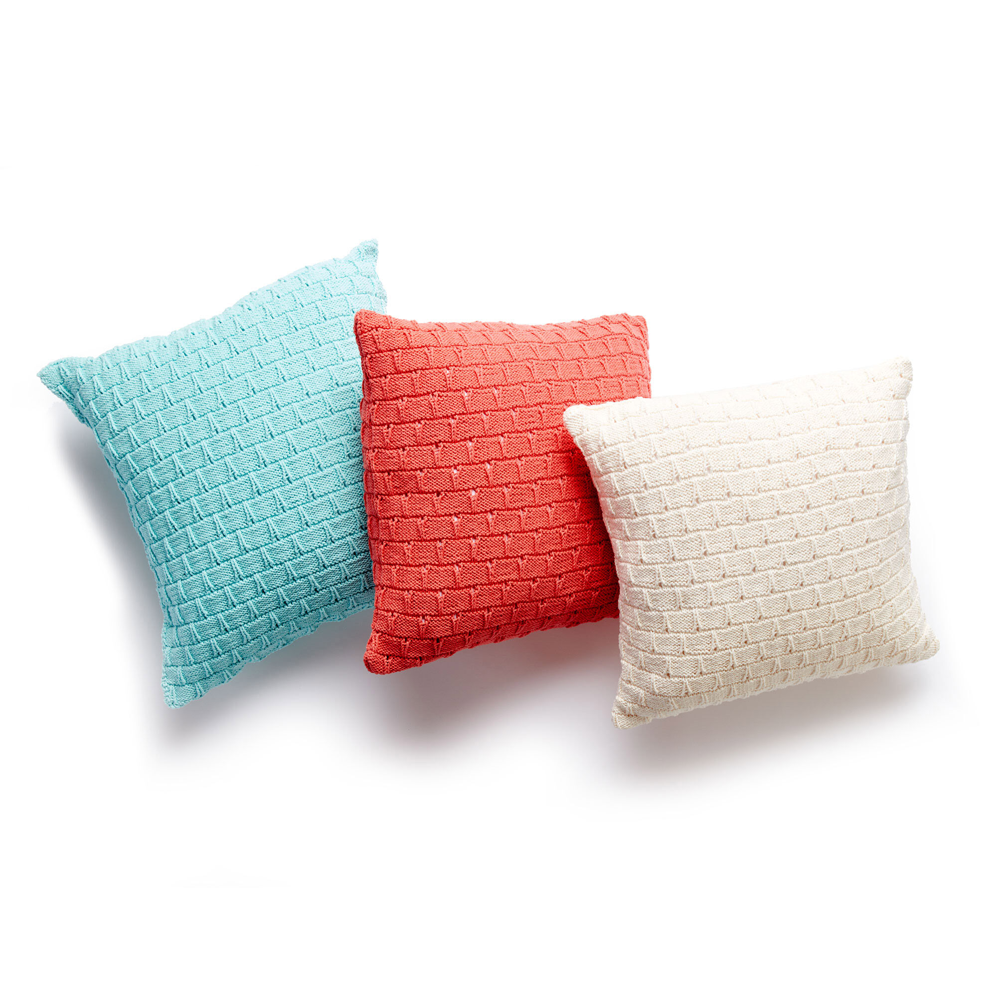 Lily Sugar39n Cream Knit Pillow Trio Version 1