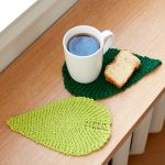Lily Sugar N Cream Be Leaf It Knit Mug Rug Pattern Yarnspirations