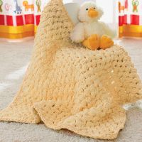 Bernat Puffy Baby Blanket   Yarnspirations