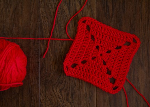 Double Crochet Square - Step-by-Step Tutorial