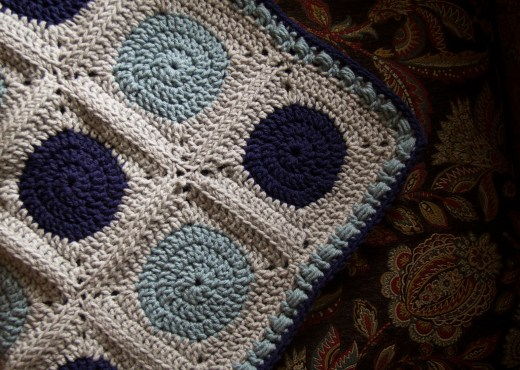 """""""Circle to Square"""" Granny Square - Newborn Blanket"""