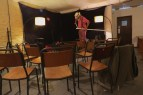 Orienteering-Theatre-Performance-Cafe-Kino-Bristol-preparing-for-show