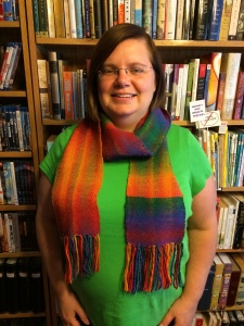 Double Rainbow Scarf in Plain Weave
