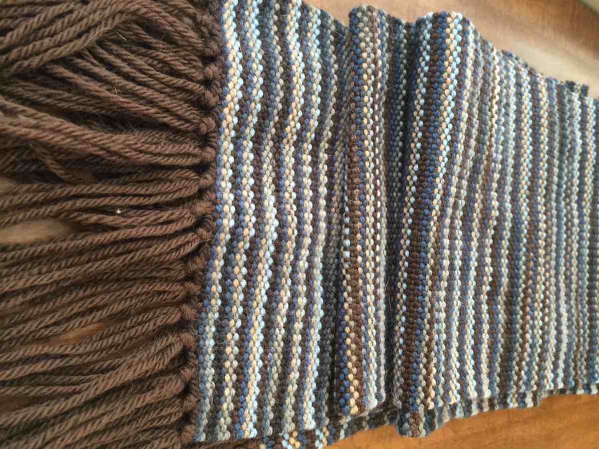 Brown & Blue Scarf