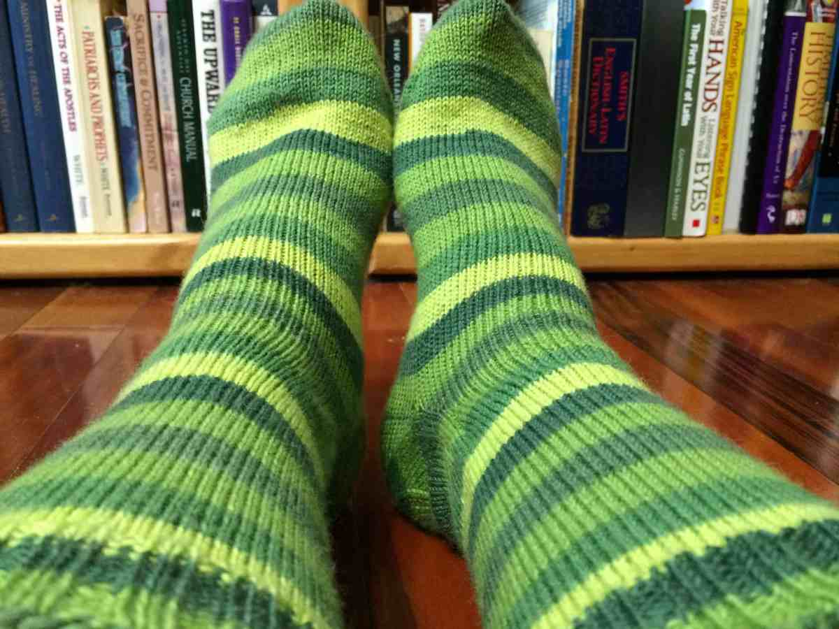 Wearing o' the Green(e) Socks
