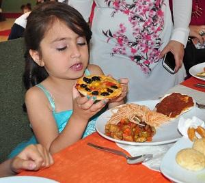 Özel çocuklara özel yiyecekler