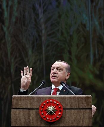 Cumhurbaşkanı Erdoğan, Millî Tarım Projesinin; 'Havza Bazlı Üretimi Destekleme' ve 'Hayvancılıkta Yerli Üretimi Destekleme' adıyla iki başlık altında hayata geçirildiğini ve projeye hep birlikte sahip çıkılması gerektiğini söyledi.