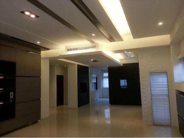 新屋裝潢-客廳及餐廳整體室內裝潢、木工裝潢