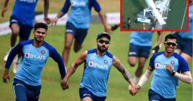 भारतीय क्रिकेट टीम जिस होटल में रुकी उसके करीब प्लेन क्रैश, टीम सुरक्षित