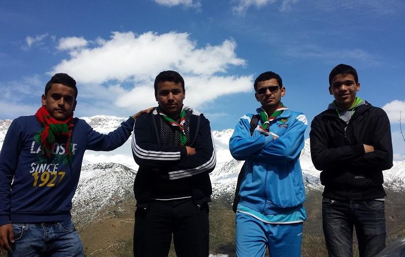 Snow shuffling Tikjda Algeria Yassin Casey