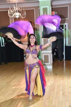 Yasmine Belly Dancing With Fan Veils