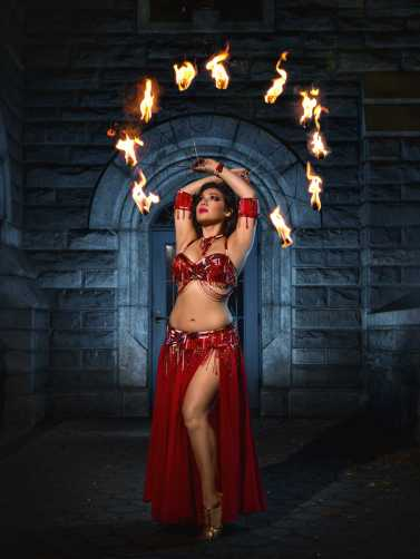 NJ Belly Dancer Yasmine at a Castle