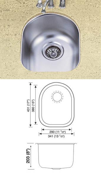 Kitchen SinkStainless Steel Sinks 18 gauge 304 Undermout