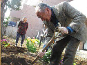 20150413利用者様とご一緒に、庭にお花を植えました!8