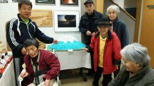 20141127作成した富士山が、ご近所の地域センターで展示されました。